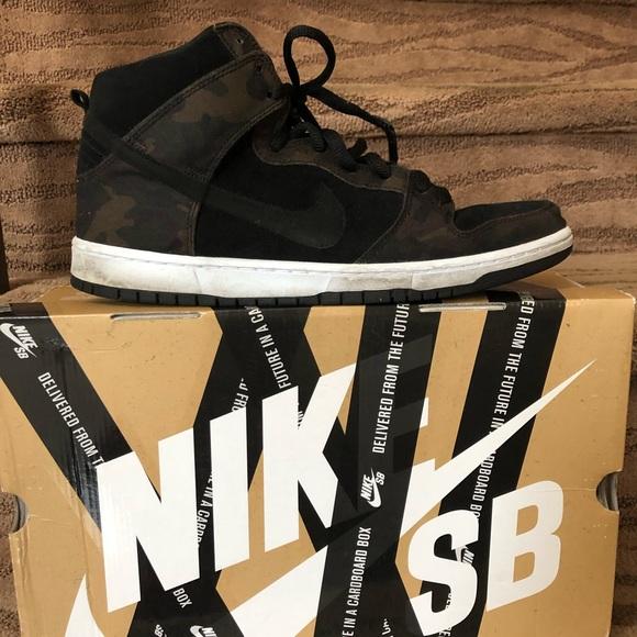 quality design d2b60 13c0c Men s Nike Dunk High Pro SB iguana Black 🎉Size 13.  M 5c3a4e4eaa8770f6964d2a00